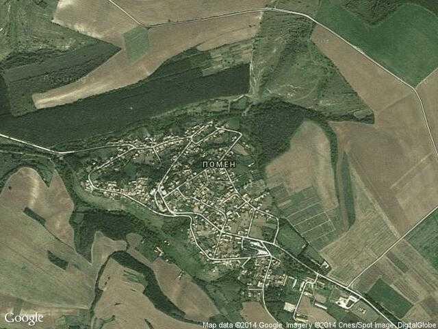 Сателитна карта на Помен
