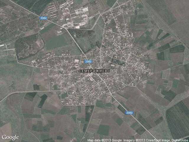Сателитна карта на Семерджиево