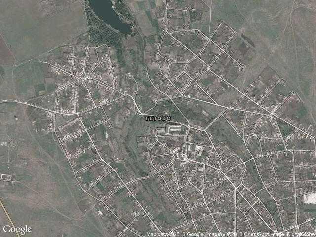 Сателитна карта на Тетово