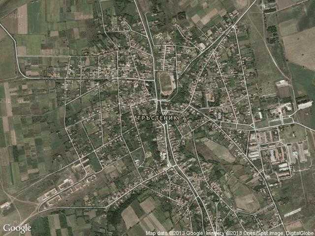 Сателитна карта на Тръстеник