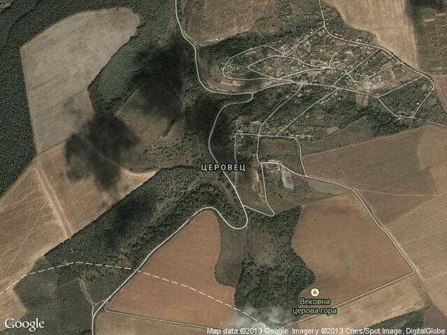 Сателитна карта на Церовец