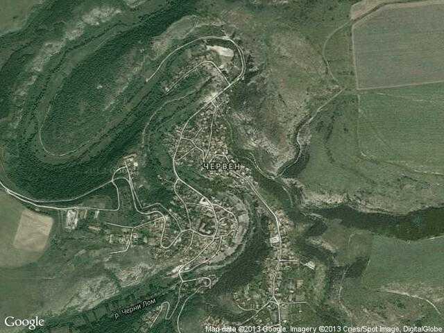 Сателитна карта на Червен