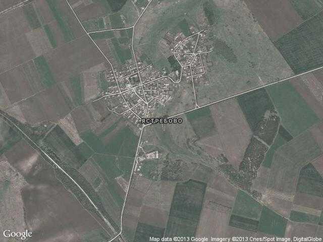 Сателитна карта на Ястребово