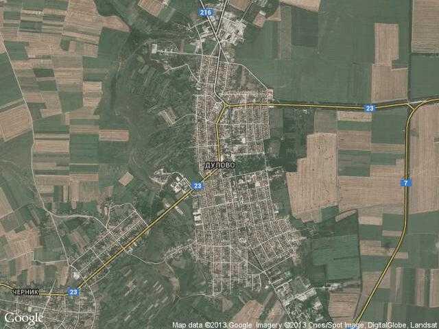 Сателитна карта на Дулово