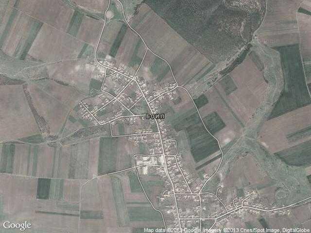 Сателитна карта на Боил