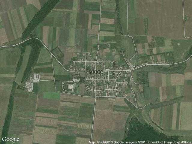 Сателитна карта на Босна
