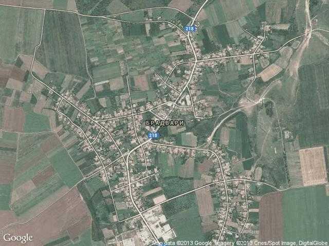 Сателитна карта на Брадвари
