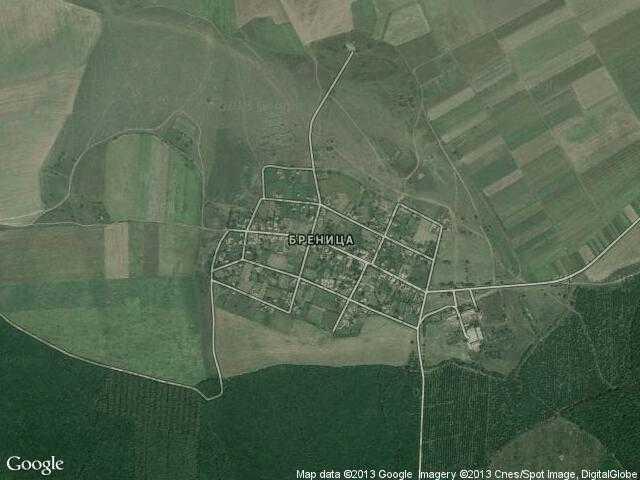Сателитна карта на Бреница