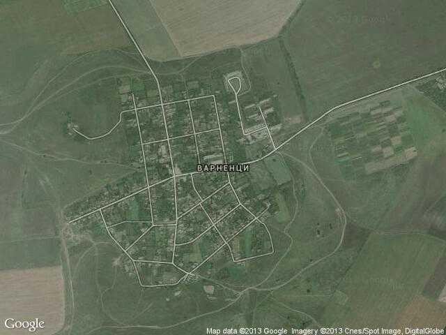 Сателитна карта на Варненци