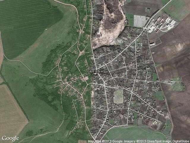 Сателитна карта на Гарван