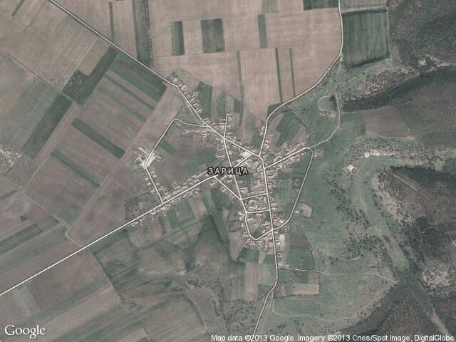 Сателитна карта на Зарица