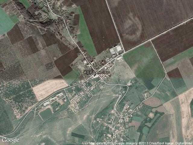 Сателитна карта на Йорданово