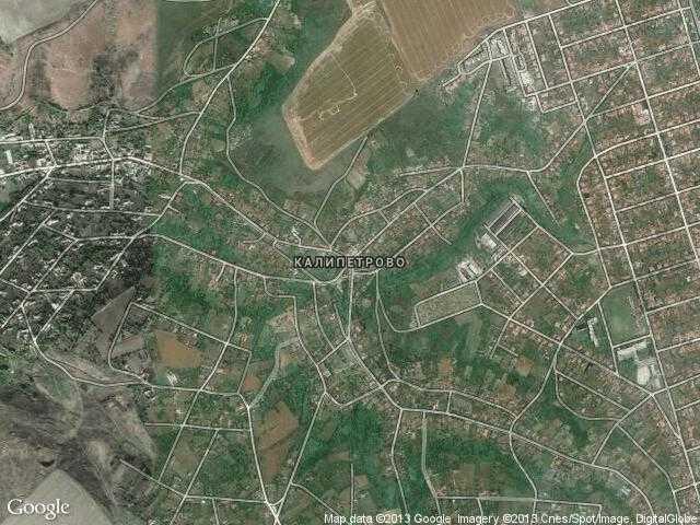 Сателитна карта на Калипетрово