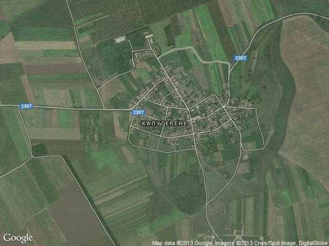 Сателитна карта на Калугерене