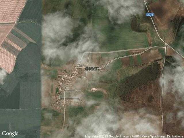 Сателитна карта на Козяк
