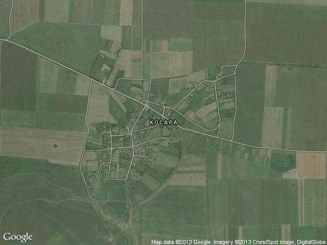 Сателитна карта на Косара