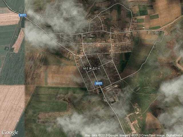 Сателитна карта на Межден