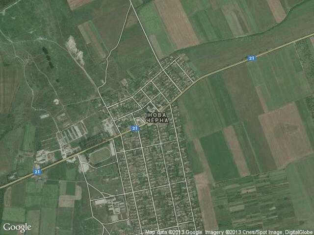 Сателитна карта на Нова Черна