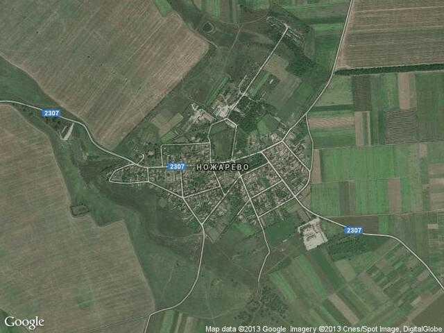 Сателитна карта на Ножарево