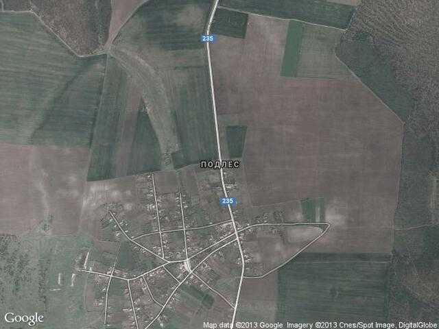 Сателитна карта на Подлес