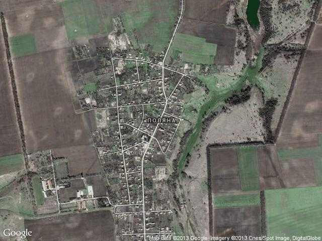Сателитна карта на Поляна