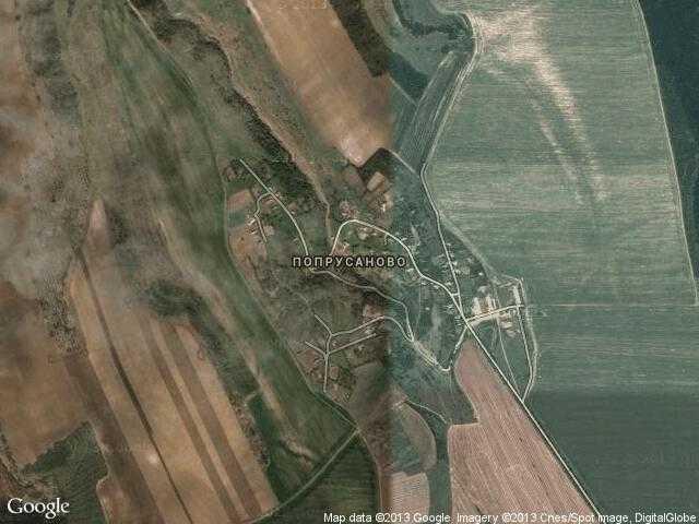 Сателитна карта на Попрусаново