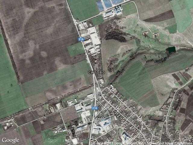 Сателитна карта на Ситово