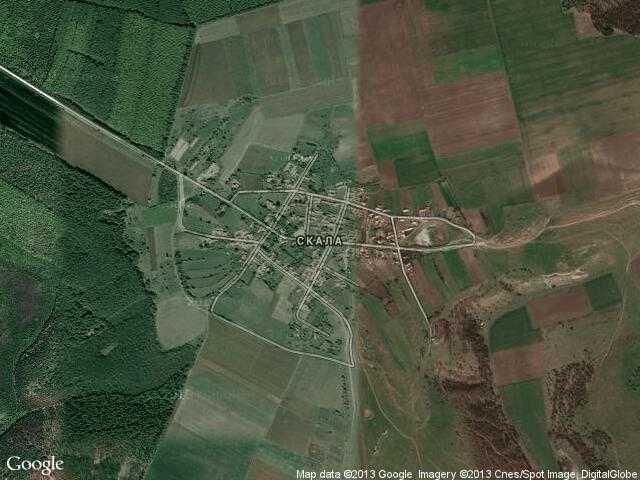 Сателитна карта на Скала
