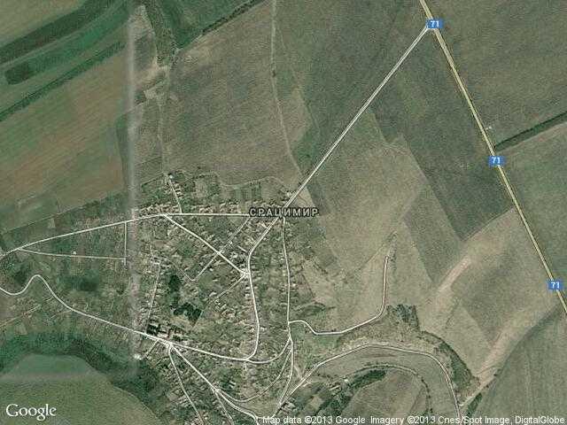 Сателитна карта на Срацимир