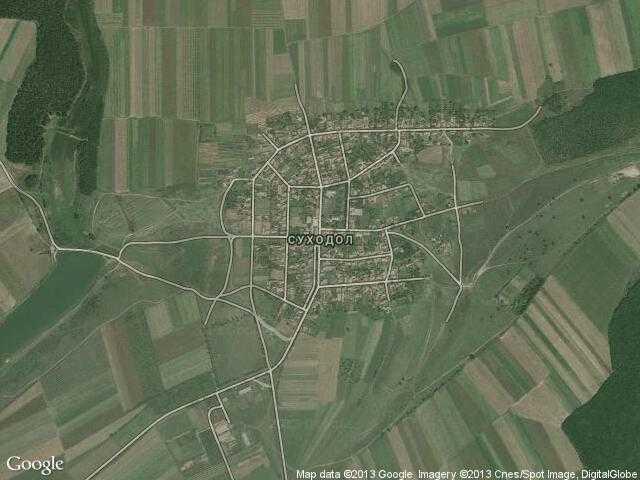 Сателитна карта на Суходол