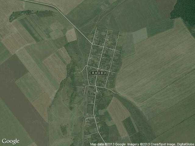 Сателитна карта на Сяново