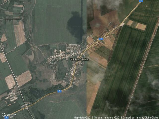 Сателитна карта на Черковна