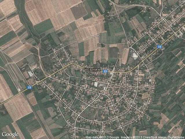 Сателитна карта на Черник