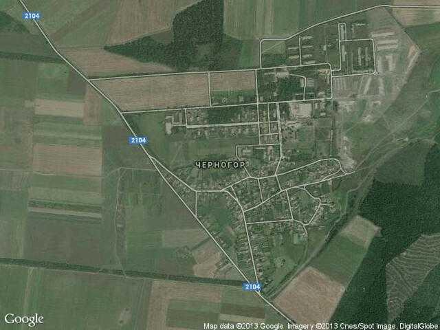 Сателитна карта на Черногор