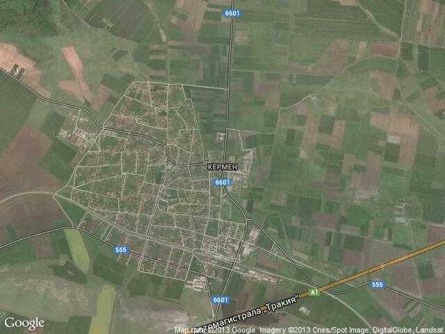 Сателитна карта на Кермен