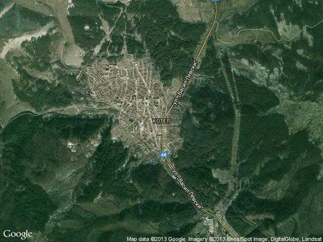 Сателитна карта на Котел