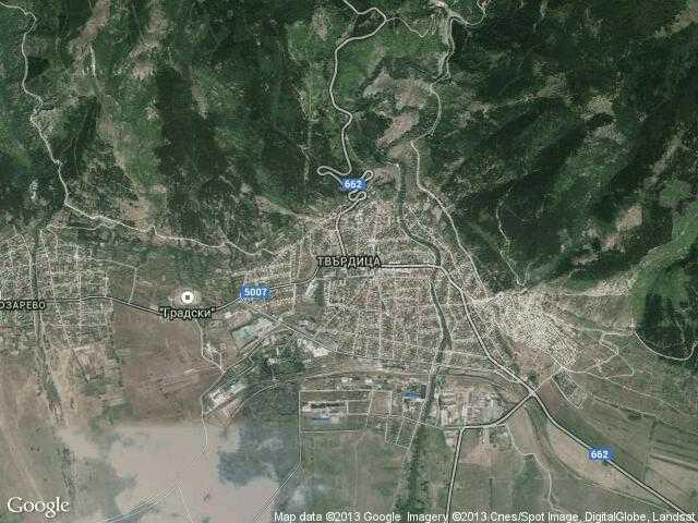 Сателитна карта на Твърдица