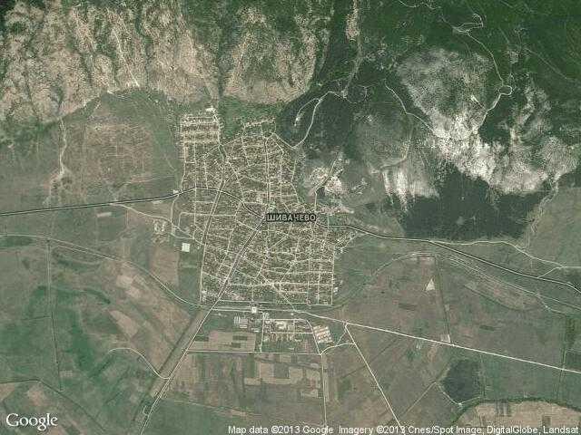 Сателитна карта на Шивачево