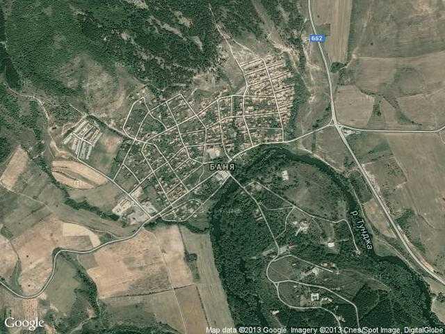 Сателитна карта на Баня