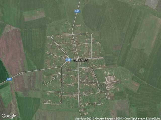 Сателитна карта на Биково