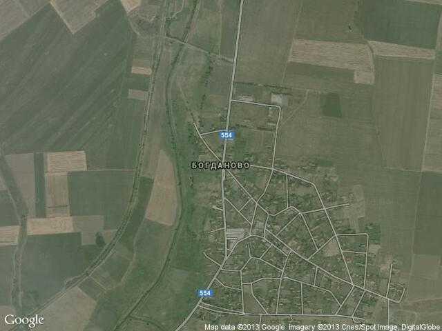 Сателитна карта на Богданово