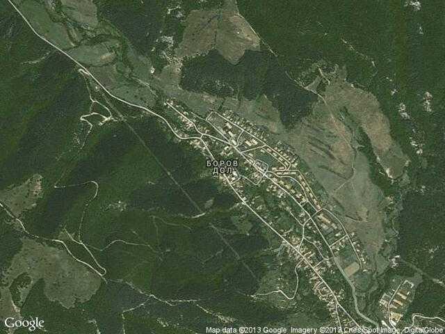 Сателитна карта на Боров дол