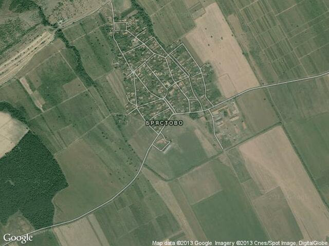 Сателитна карта на Брястово