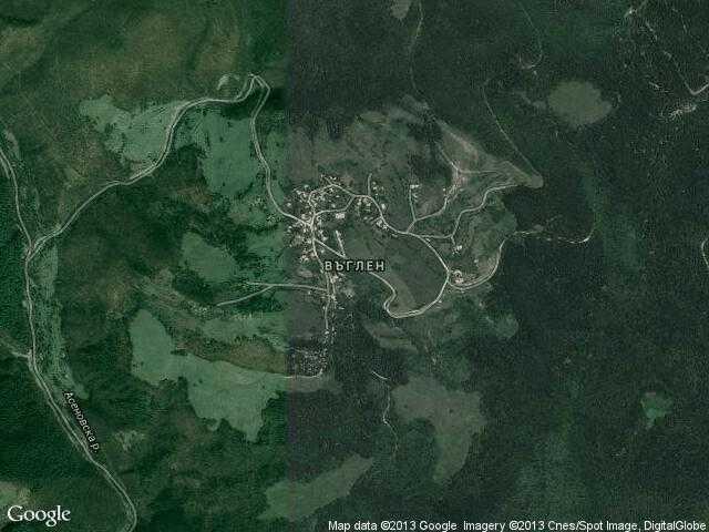 Сателитна карта на Въглен