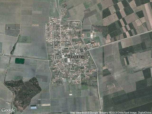Сателитна карта на Гергевец