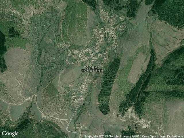 Сателитна карта на Голямо Чочовени
