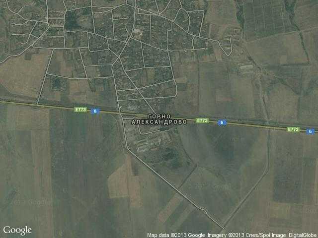 Сателитна карта на Горно Александрово