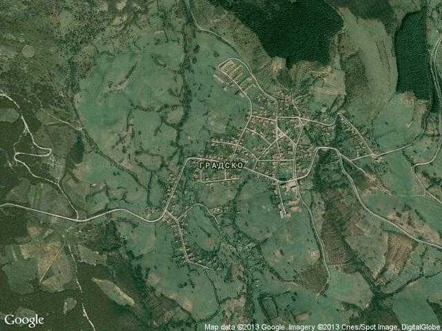 Сателитна карта на Градско