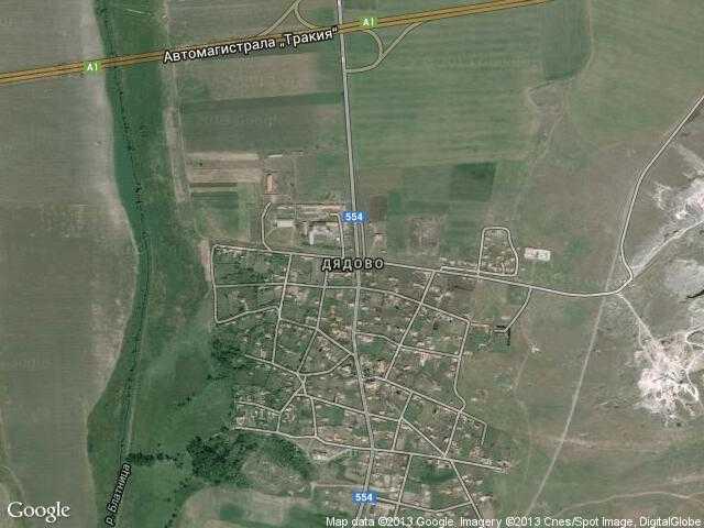 Сателитна карта на Дядово