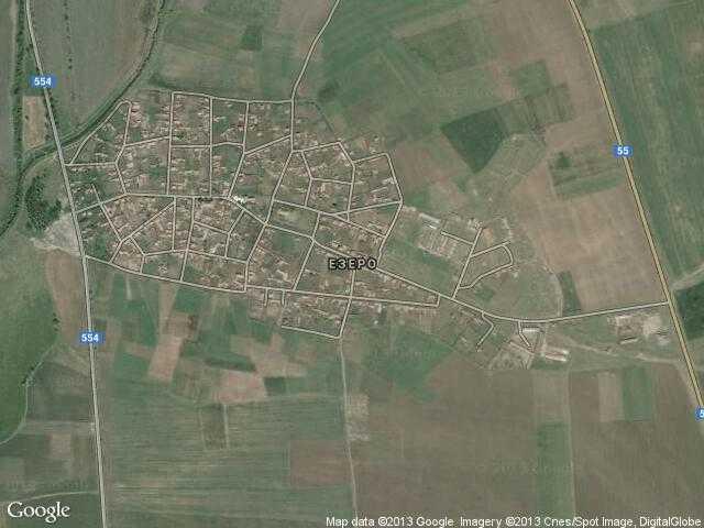 Сателитна карта на Езеро